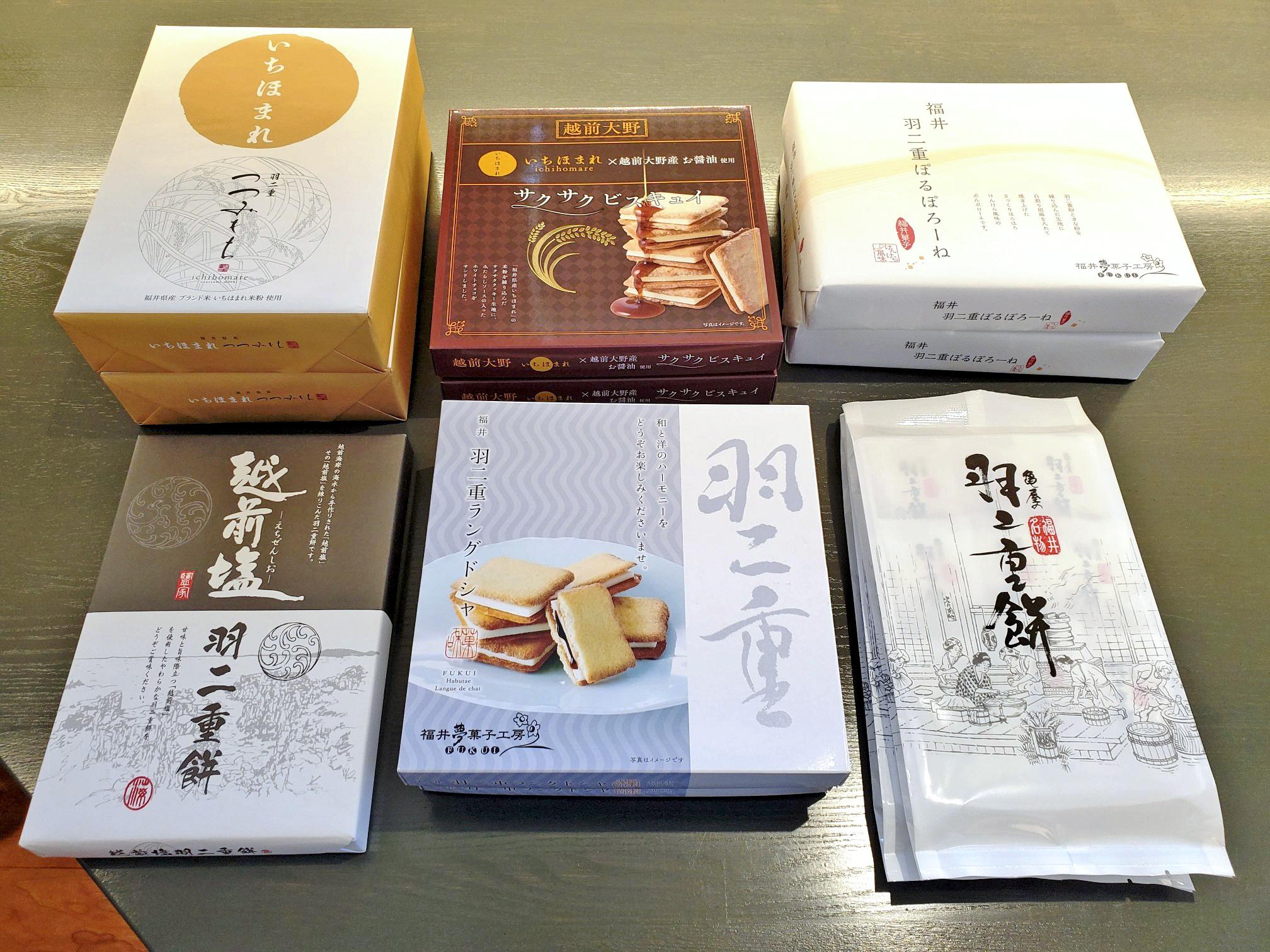 「福井といえば!羽二重餅!!」福井の代名詞と言っても過言ではない羽二重餅は、福井のお土産の定番のひとつになっております。